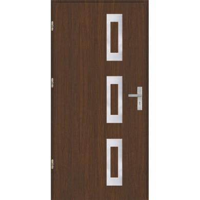 Drzwi wejściowe stalowe model OPTITERM Płaskie 28 inox pełne