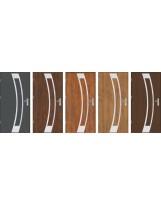 Drzwi wejściowe stalowe model OPTITERM Płaskie 31 inox pełne