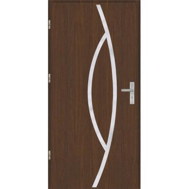 Drzwi wejściowe stalowe model OPTITERM Płaskie 32 inox pełne