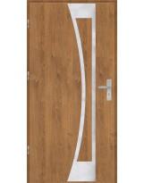 Drzwi wejściowe stalowe model OPTITERM Płaskie 40 inox pełne