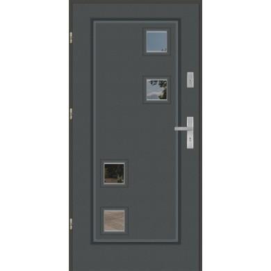 Drzwi wejściowe stalowe model EKO-NORM Finezja 16A