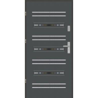 Drzwi wejściowe stalowe model EKO-NORM PŁASKIE S14