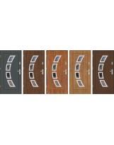 Drzwi wejściowe stalowe model EKO-NORM FINEZJA 3 INOX
