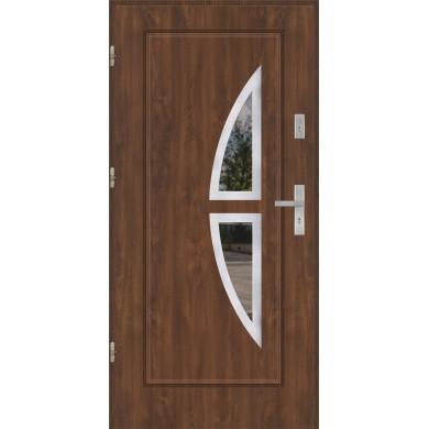 Drzwi wejściowe stalowe model EKO-NORM FINEZJA 5 INOX
