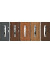 Drzwi wejściowe stalowe model EKO-NORM FINEZJA 13 INOX