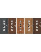 Drzwi wejściowe stalowe model EKO-NORM FINEZJA 15 INOX