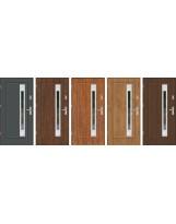 Drzwi wejściowe stalowe model EKO-NORM FINEZJA 23 INOX