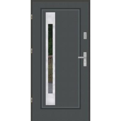Drzwi wejściowe stalowe model EKO-NORM FINEZJA 25 INOX