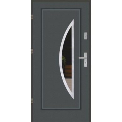 Drzwi wejściowe stalowe model EKO-NORM FINEZJA 34 INOX