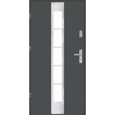 Drzwi wejściowe stalowe model EKO-NORM PŁASKIE 26 INOX