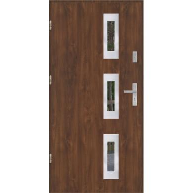 Drzwi wejściowe stalowe model EKO-NORM PŁASKIE 28 INOX