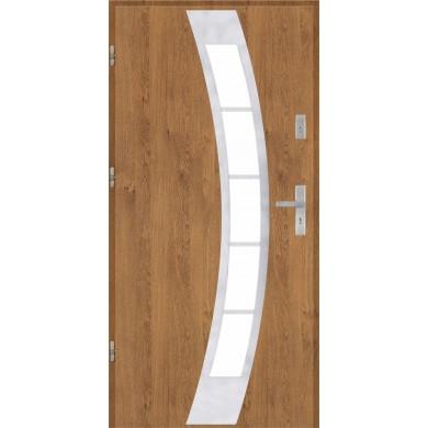 Drzwi wejściowe stalowe model EKO-NORM PŁASKIE 31 INOX