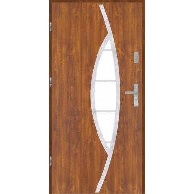 Drzwi wejściowe stalowe model EKO-NORM PŁASKIE 32 INOX