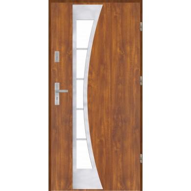 Drzwi wejściowe stalowe model EKO-NORM PŁASKIE 40 INOX