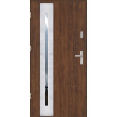 Drzwi wejściowe stalowe model EKO-NORM PŁASKIE 42 INOX