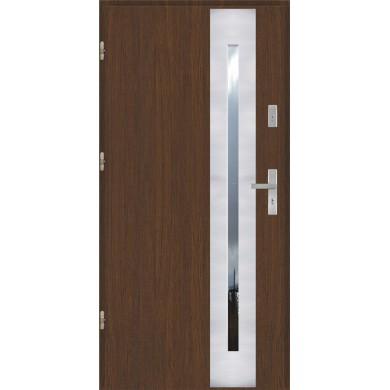 Drzwi wejściowe stalowe model EKO-NORM PŁASKIE 43 INOX