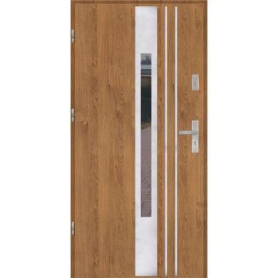 Drzwi wejściowe stalowe model EKO-NORM PŁASKIE 44 INOX