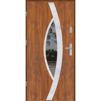 Drzwi wejściowe stalowe model EKO-NORM PŁASKIE 46 INOX