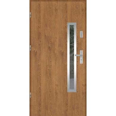 Drzwi wejściowe stalowe model EKO-NORM PŁASKIE 76 INOX