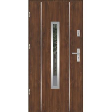 Drzwi wejściowe stalowe model EKO-NORM PŁASKIE 79 INOX