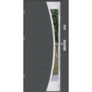 Drzwi wejściowe stalowe model EKO-NORM GALA 40 INOX