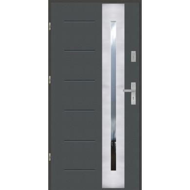 Drzwi wejściowe stalowe model EKO-NORM GALA 43 INOX
