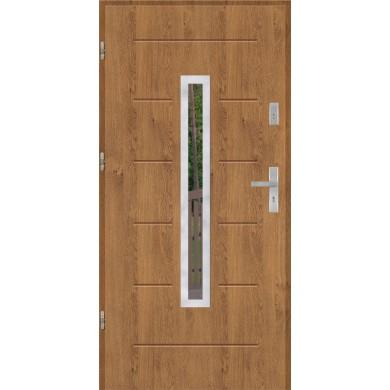 Drzwi wejściowe stalowe model EKO-NORM GALA 73 INOX