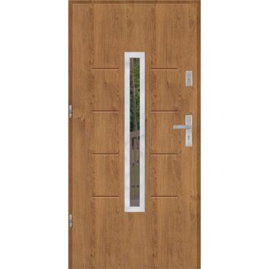 Drzwi wejściowe stalowe model EKO-NORM GALA 74 INOX