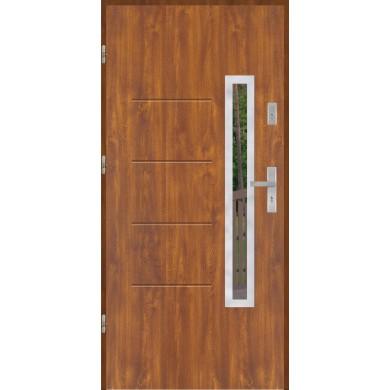 Drzwi wejściowe stalowe model EKO-NORM GALA 77 INOX