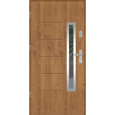 Drzwi wejściowe stalowe model EKO-NORM GALA 82 INOX