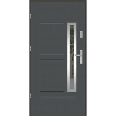 Drzwi wejściowe stalowe model EKO-NORM GALA 87 INOX