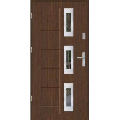 Drzwi wejściowe stalowe model EKO-NORM GALA 128 INOX