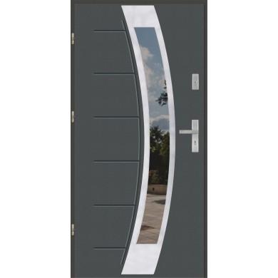 Drzwi wejściowe stalowe model EKO-NORM GALA 131 INOX