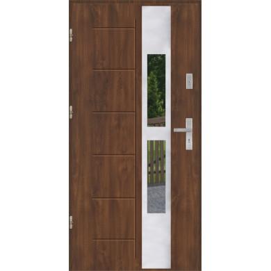 Drzwi wejściowe stalowe model EKO-NORM GALA 135 INOX