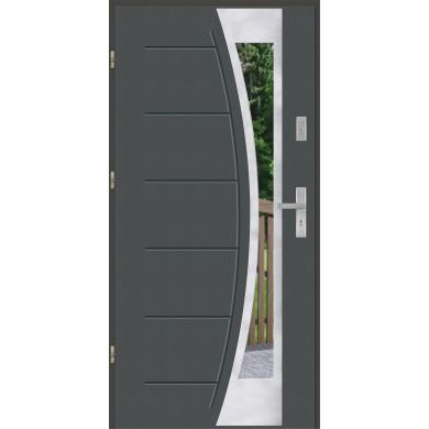 Drzwi wejściowe stalowe model EKO-NORM GALA 140 INOX