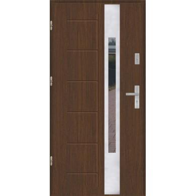 Drzwi wejściowe stalowe model EKO-NORM GALA 144 INOX