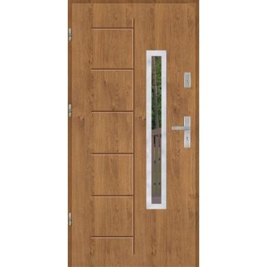 Drzwi wejściowe stalowe model EKO-NORM GALA 176 INOX