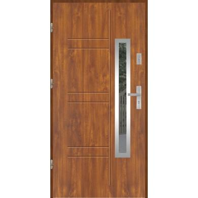Drzwi wejściowe stalowe model EKO-NORM GALA 177 INOX