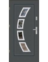 Drzwi wejściowe stalowe model PREMIUM FINEZJA 3 INOX