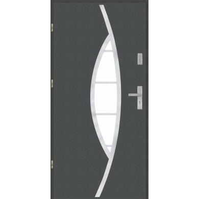 Drzwi wejściowe stalowe model PREMIUM PŁASKIE 32 INOX