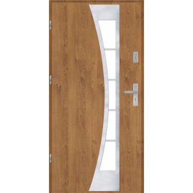 Drzwi wejściowe stalowe model PREMIUM PŁASKIE 40 INOX