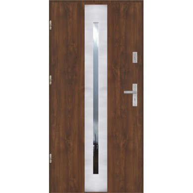 Drzwi wejściowe stalowe model PREMIUM PŁASKIE 41 INOX