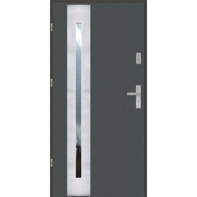 Drzwi wejściowe stalowe model PREMIUM PŁASKIE 42 INOX