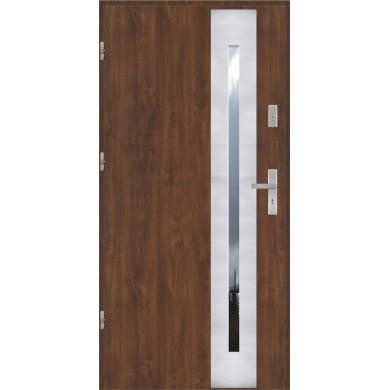 Drzwi wejściowe stalowe model PREMIUM PŁASKIE 43 INOX