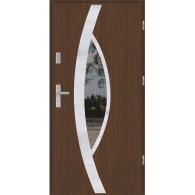 Drzwi wejściowe stalowe model PREMIUM PŁASKIE 46 INOX