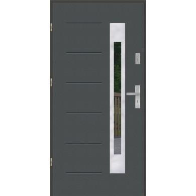 Drzwi wejściowe stalowe model PREMIUM GALA 23 INOX