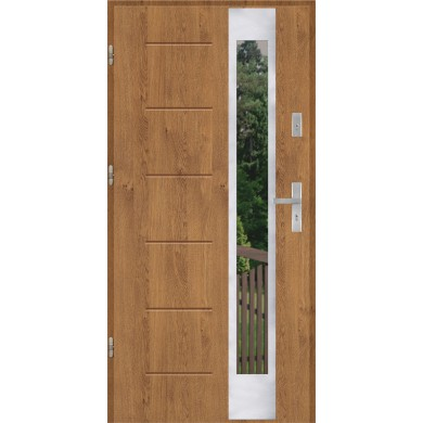 Drzwi wejściowe stalowe model PREMIUM GALA 27 INOX