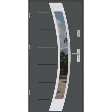 Drzwi wejściowe stalowe model PREMIUM GALA 31 INOX