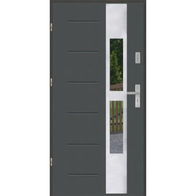 Drzwi wejściowe stalowe model PREMIUM GALA 35 INOX