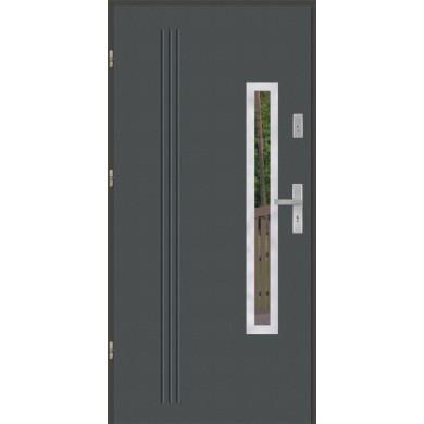Drzwi wejściowe stalowe model PREMIUM GALA 78 INOX